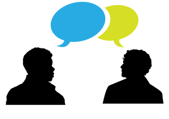 png transparent download Speaking clipart. Heads and speech bubble.