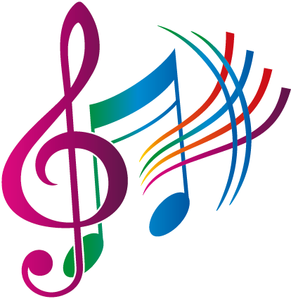 svg library stock notas musicales de colores