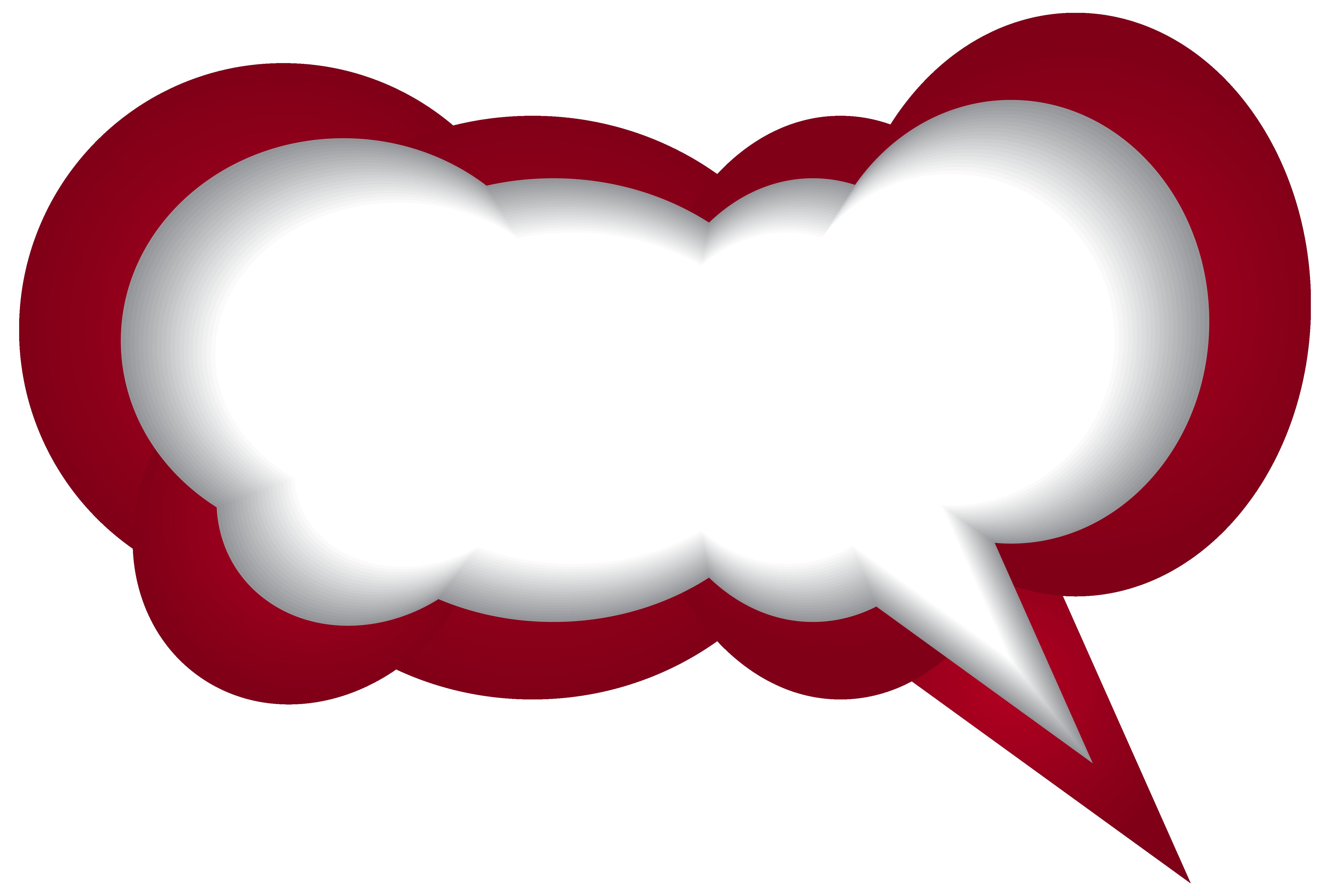 clip art stock Speech red white png. Vector bubble heart