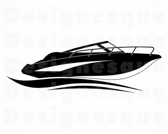 graphic freeuse download Speed svg motor files. Yacht clipart fast boat