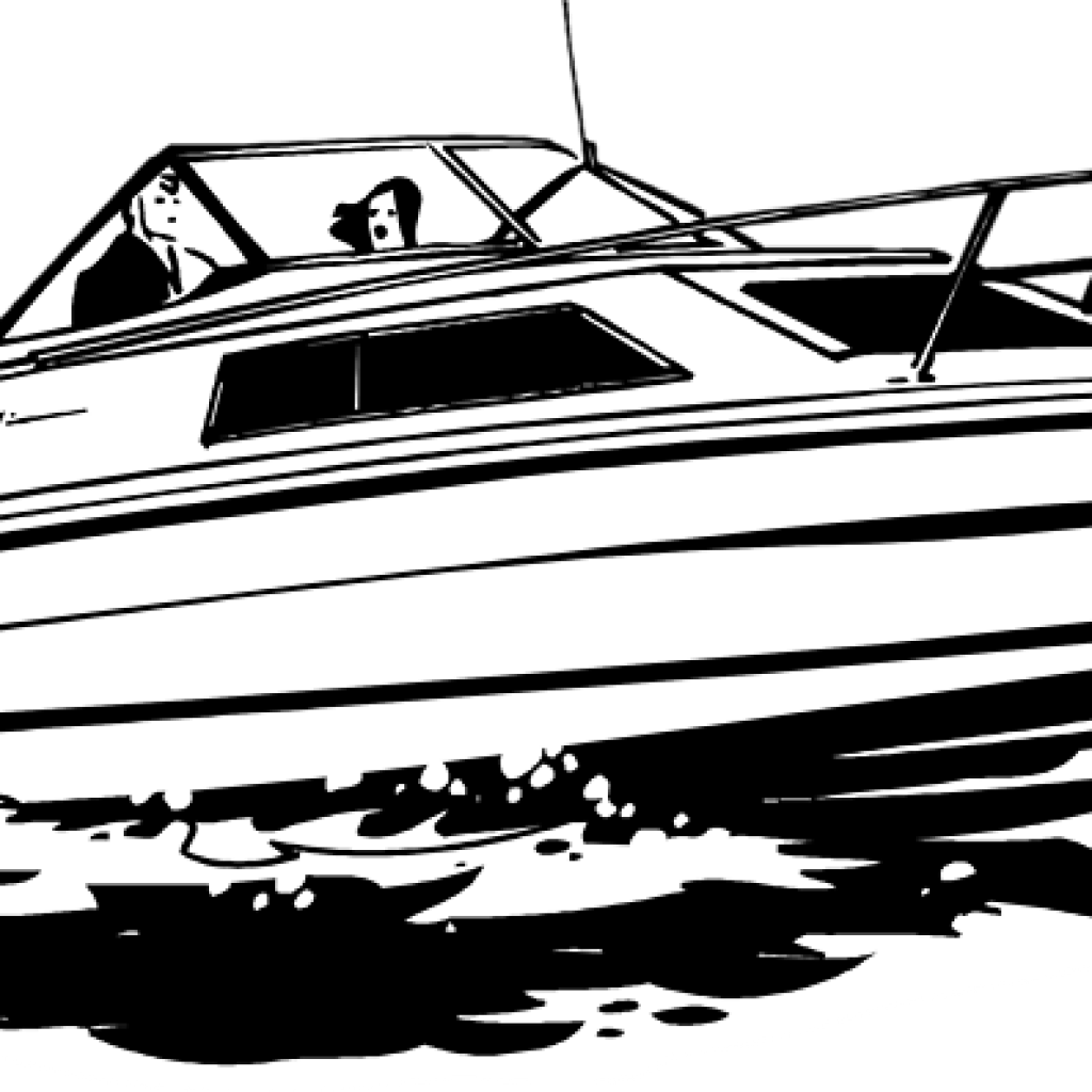 black and white download Vector boat speed. Clipart black and white