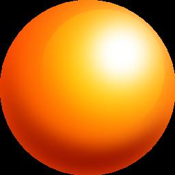 clip royalty free Ball orange icon size. Sphere clipart cone