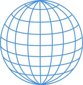 vector Enlarged Thick Blue Wire Globe Clip Art at Clker