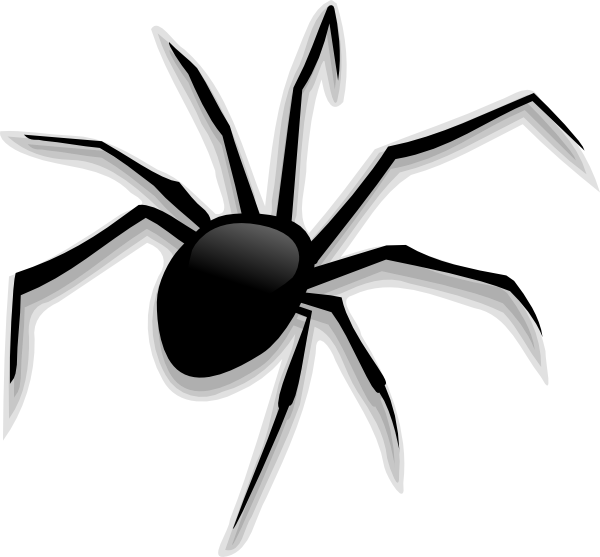 banner transparent Free scary cliparts download. Spider and web clipart