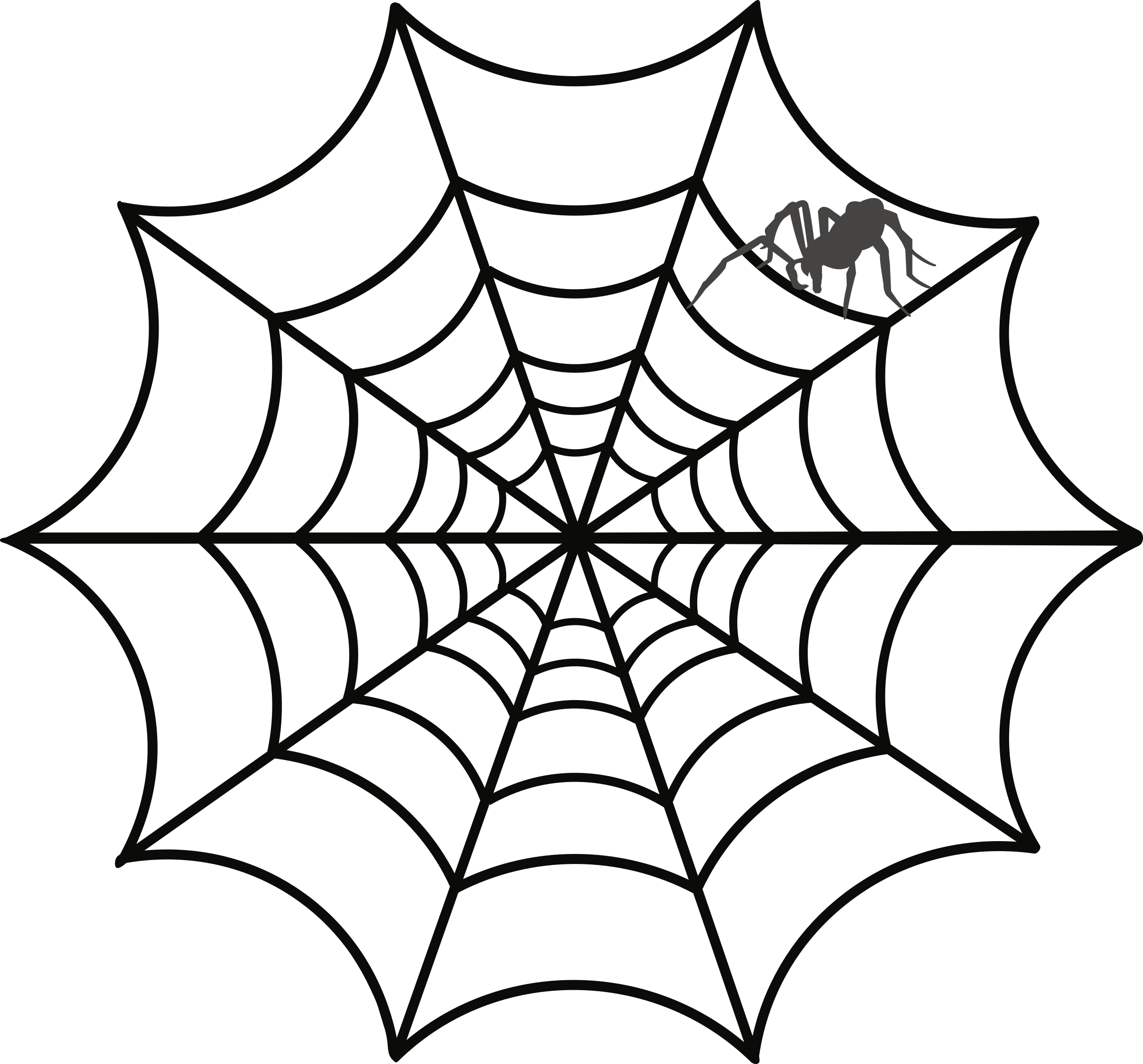 clipart free stock Spider and web clipart. Big image png