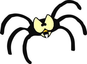 clipart black and white stock Cartoon spider clipart cliparts for you