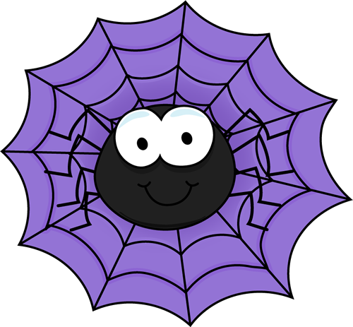 royalty free stock In a purple insects. Halloween spider web clipart