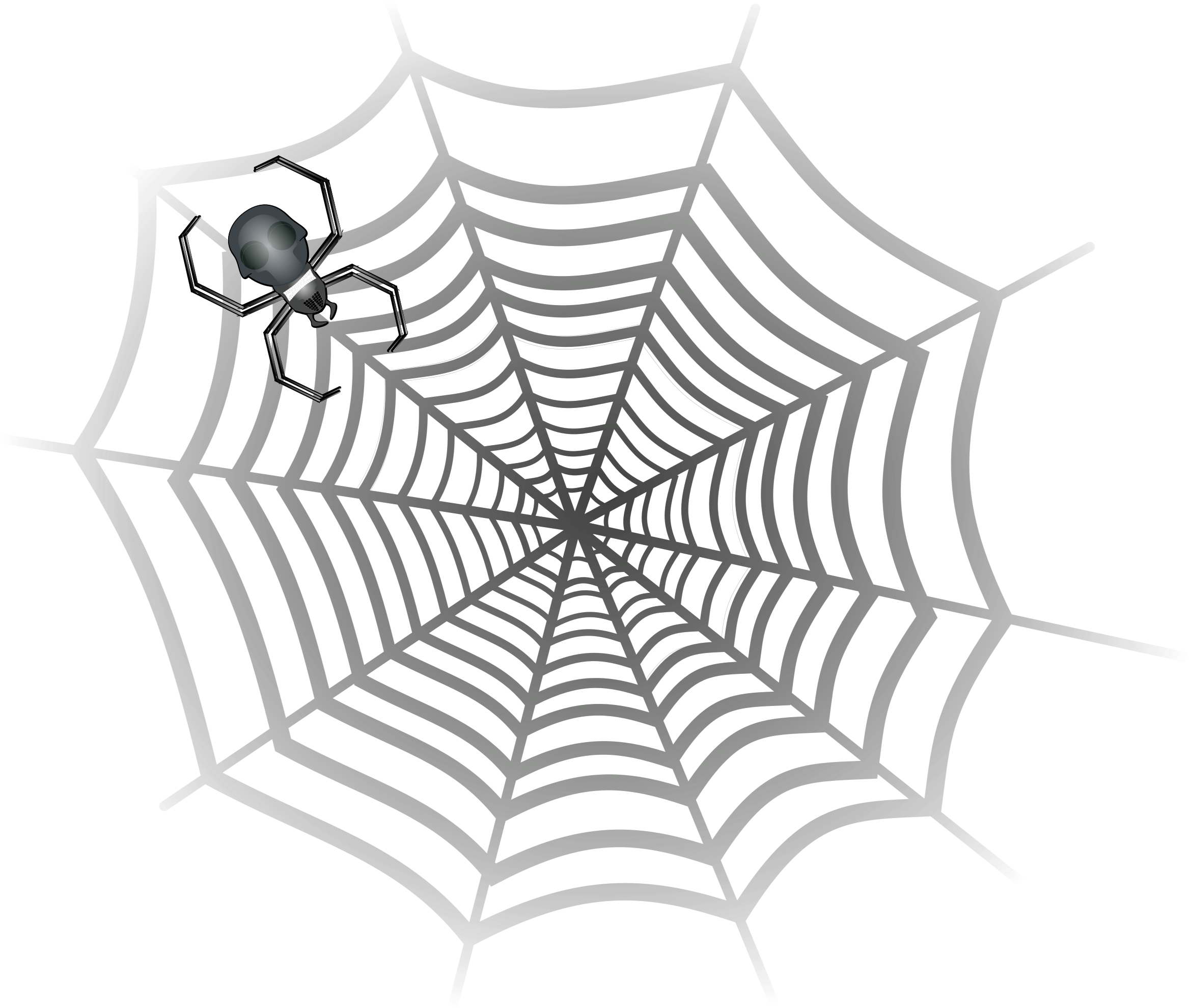png Spider in web clipart. Big image png