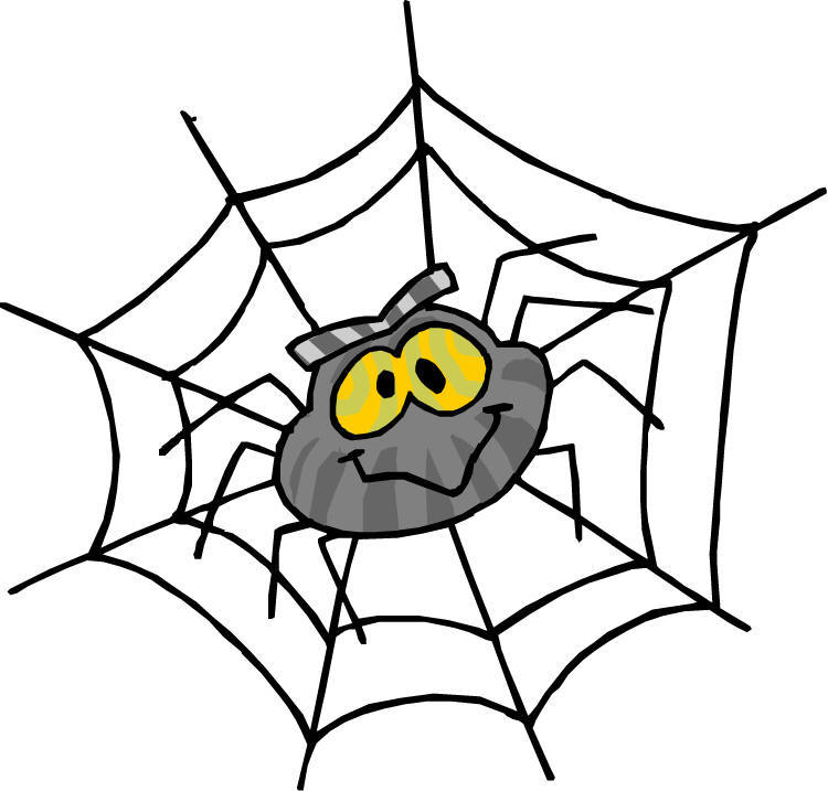 clipart library Free images download clip. Spider in web clipart