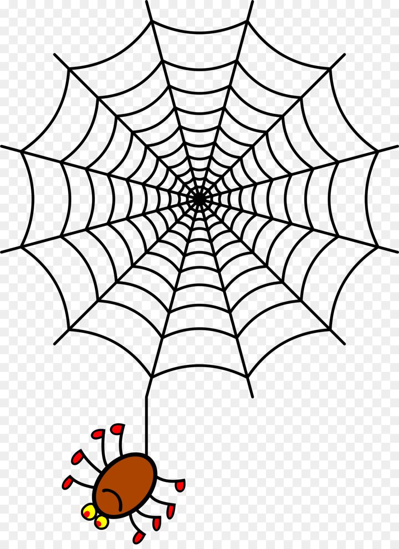 svg freeuse stock Spider on web clipart. Illustration drawing leaf