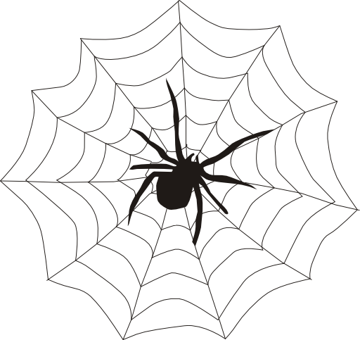 image royalty free download Spider on web clipart. I royalty free public