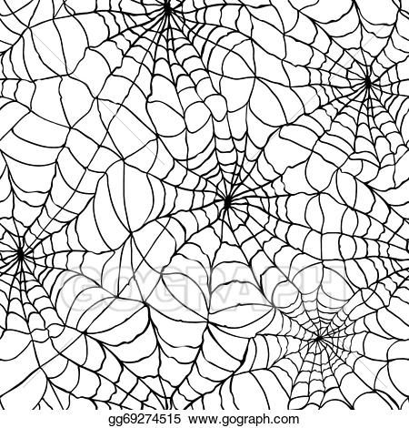 picture black and white stock Vector art texture drawing. Spider web background clipart