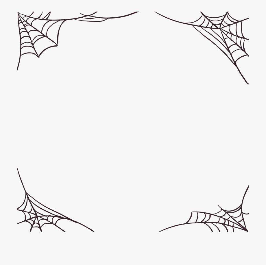 transparent library Spider web border clipart. Mq spiderweb halloween borders