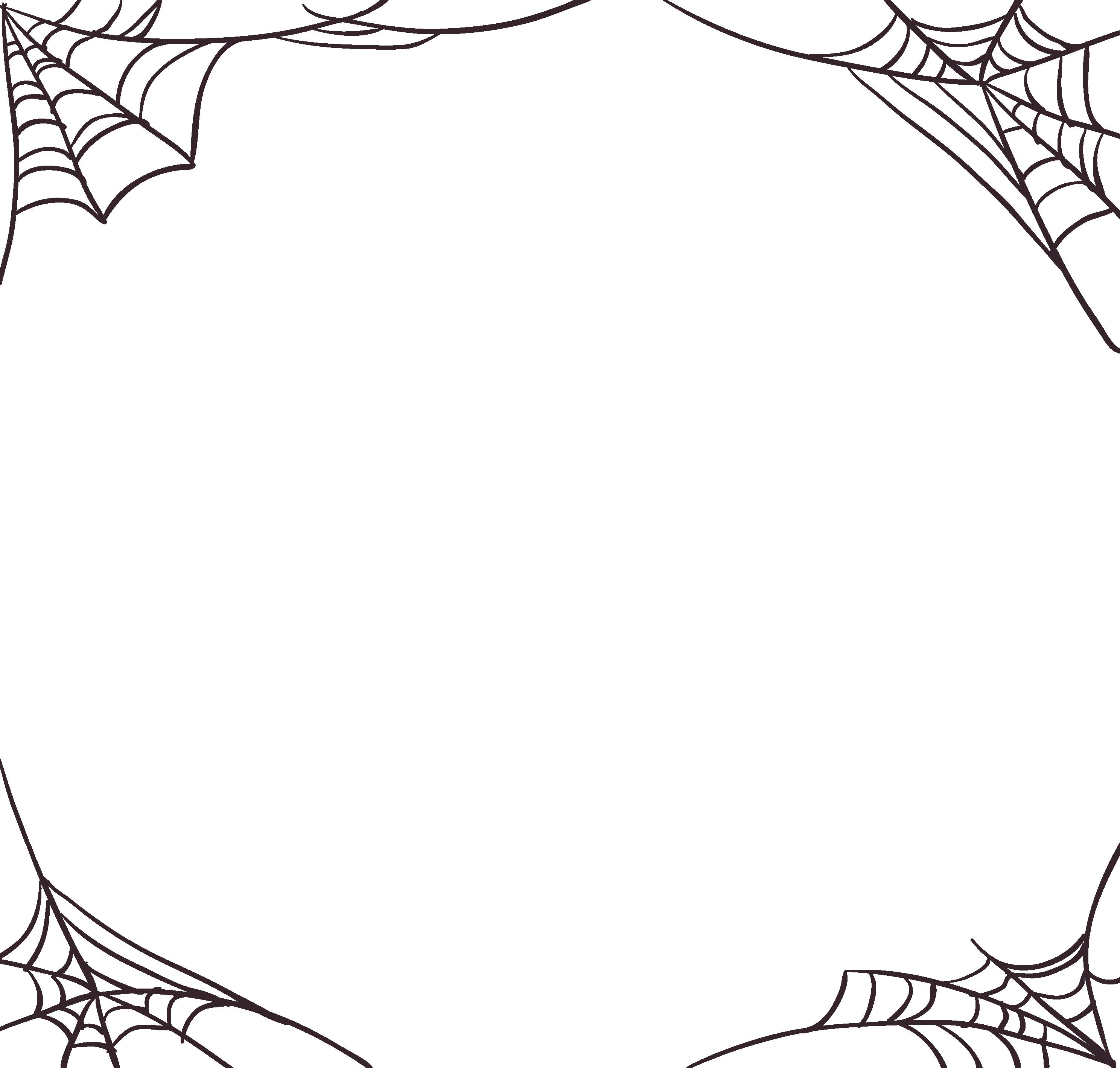 transparent library Mq spiderweb halloween borders. Spider web border clipart