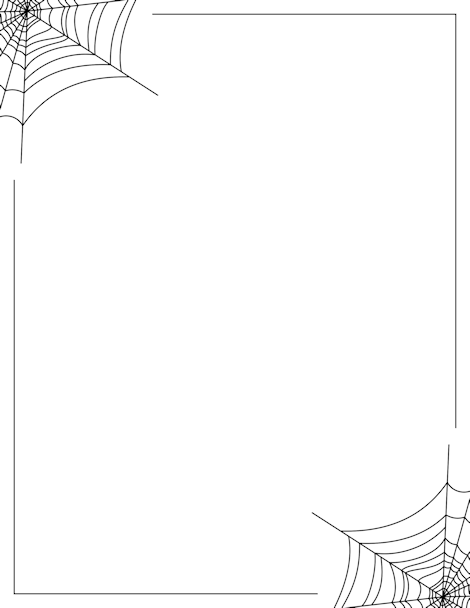 clip free library Spider web border clipart. Pin by muse printables