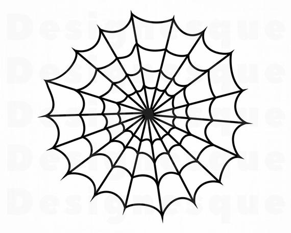 jpg library stock Spider web clipart. Svg files for cricut