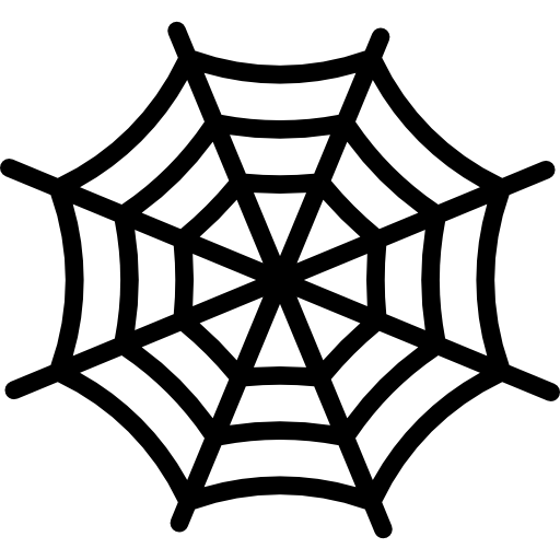 royalty free Spider web clipart black and white. Cobweb halloween icon png