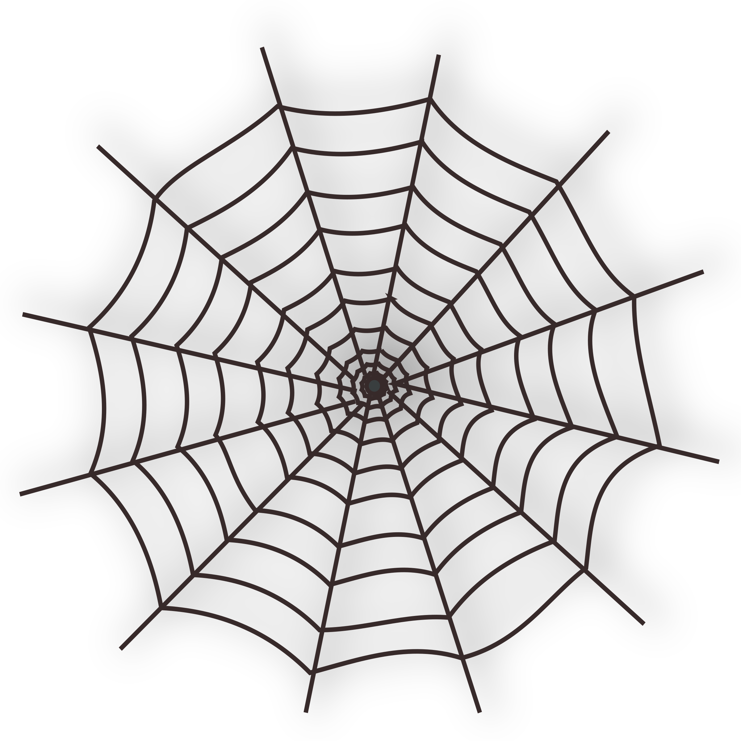 jpg black and white Halloween icon big image. White spider web clipart