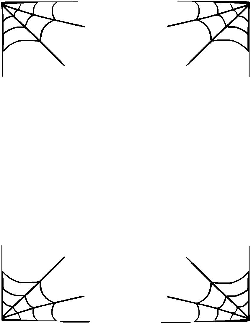 clip art black and white stock Spider web transparent png. Halloween corner border clipart