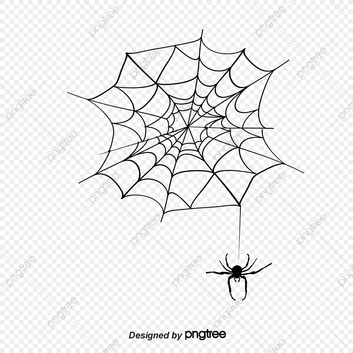 clip art royalty free Cartoon silhouette material . Spider web with spider clipart