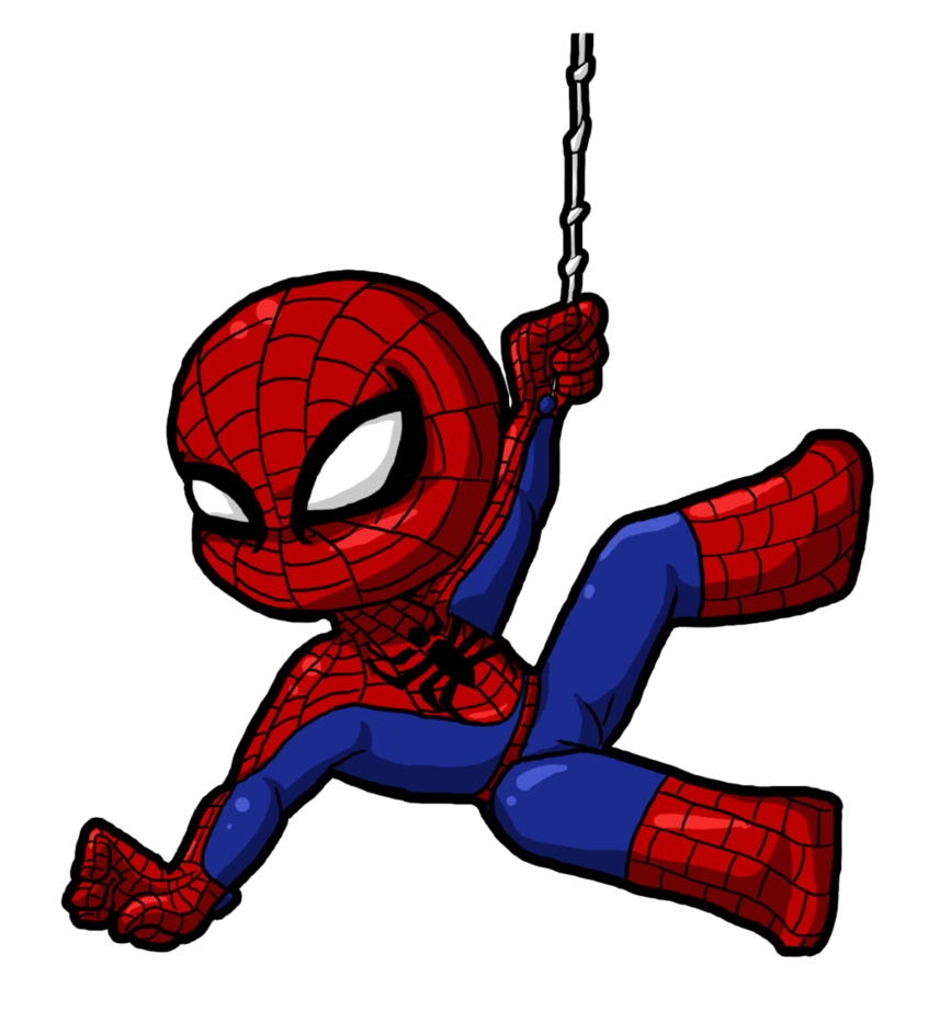 svg freeuse Spiderman clipart. Cute cartoon for kids