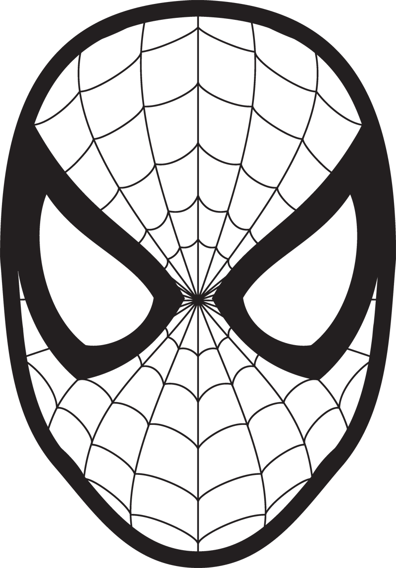 svg freeuse stock Spiderman Face Logo Spiderman Mask Clipart