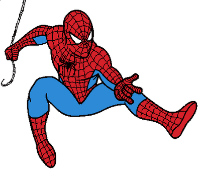 svg black and white stock Spiderman Clipart Free