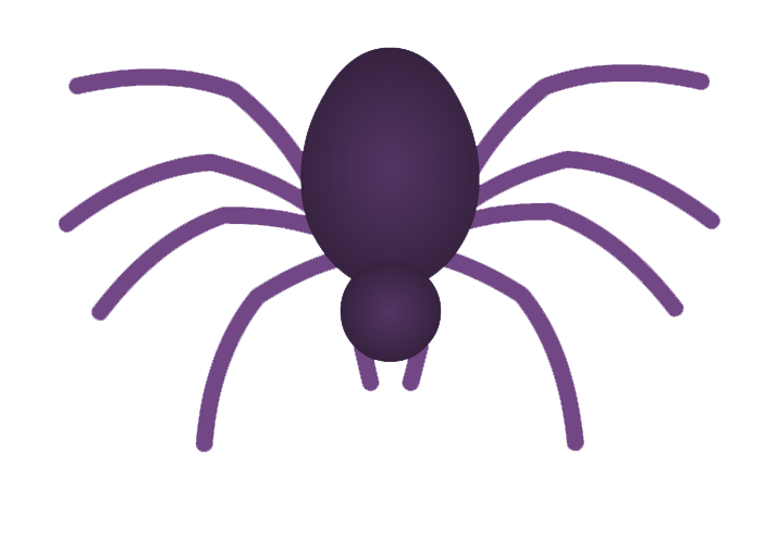 banner free library Purple Spiders