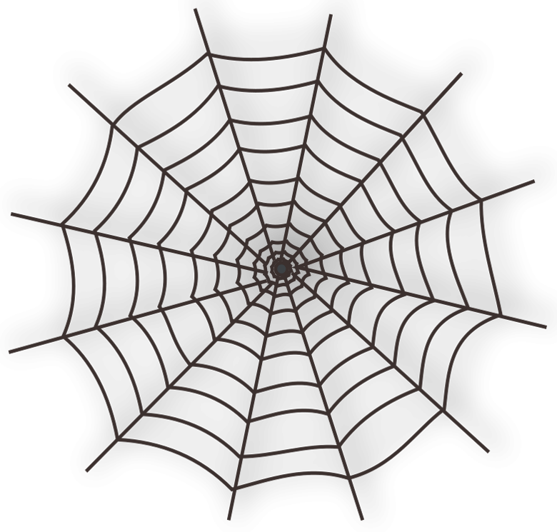 graphic transparent stock Spider web with spider clipart. Large haunted png largehaunted
