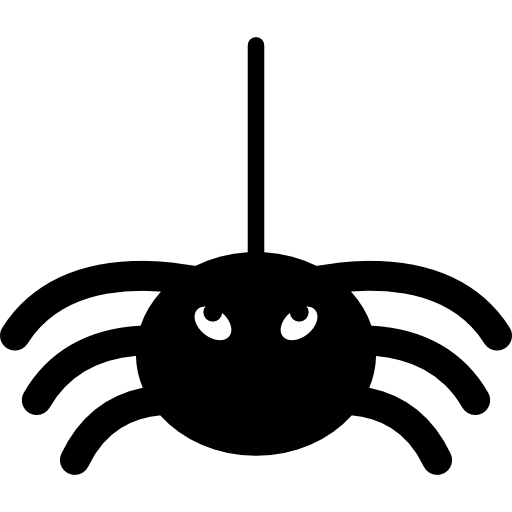 banner library library Halloween spider hanging from thread