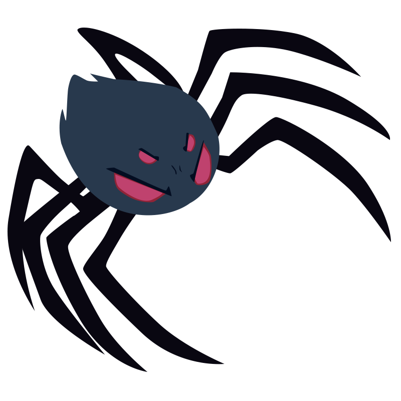 picture black and white library spiders clipart vector #83790811