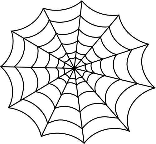 clipart library download Spider web clipart black and white. Clip art image outline