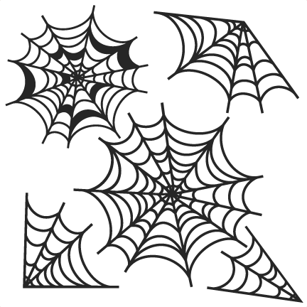 clip Spiderweb svg scrapbook cut. Spider web clipart