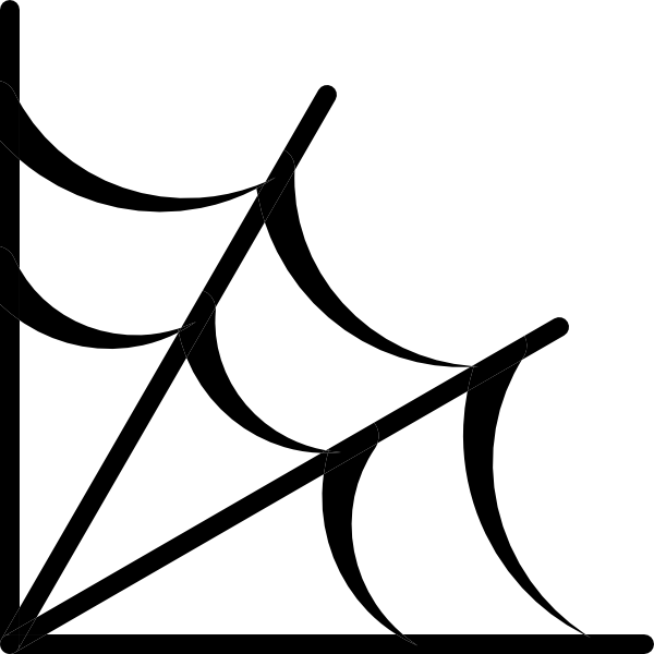 vector black and white stock Spider Web Icon clip art