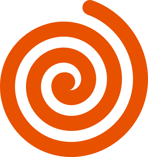 clipart black and white library Spiral clipart. Orange