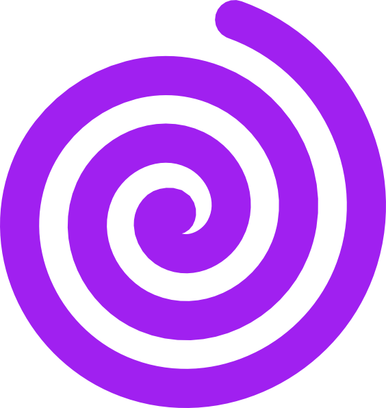 vector black and white download Purple clip art at. Spiral clipart