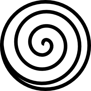 vector black and white Spiral Clip Art at Clker