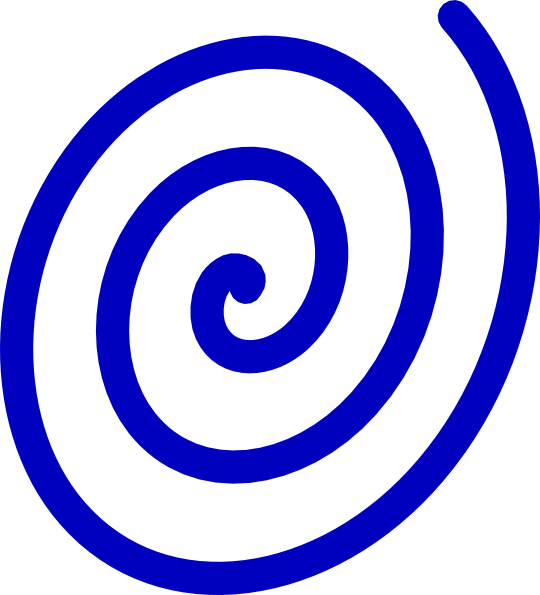 clipart free download Blue clip art at. Spiral clipart
