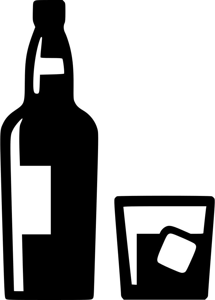 banner transparent library Whiskey Bottle Silhouette at GetDrawings