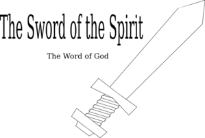 png black and white Sword Of The Spirit Clipart