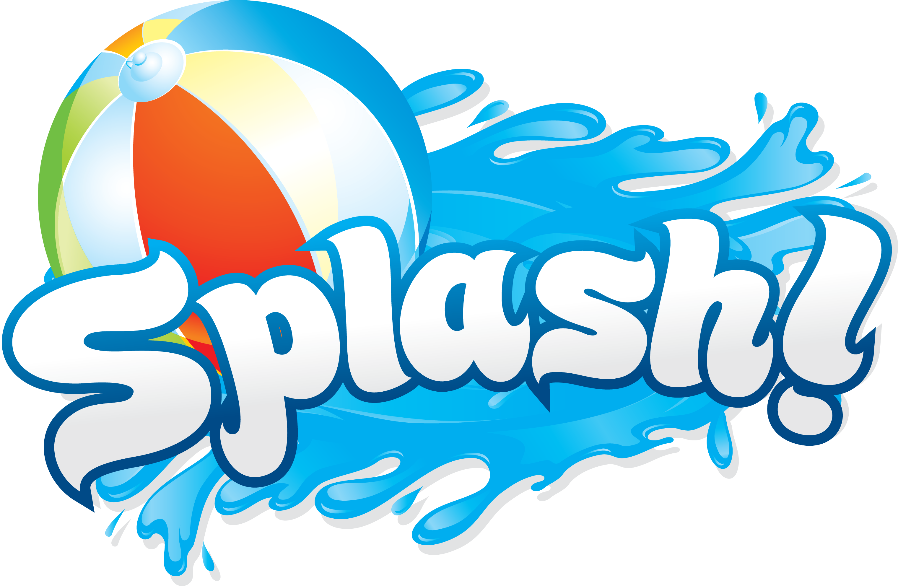 clip library download Pool ball in water. Kids splashing clipart