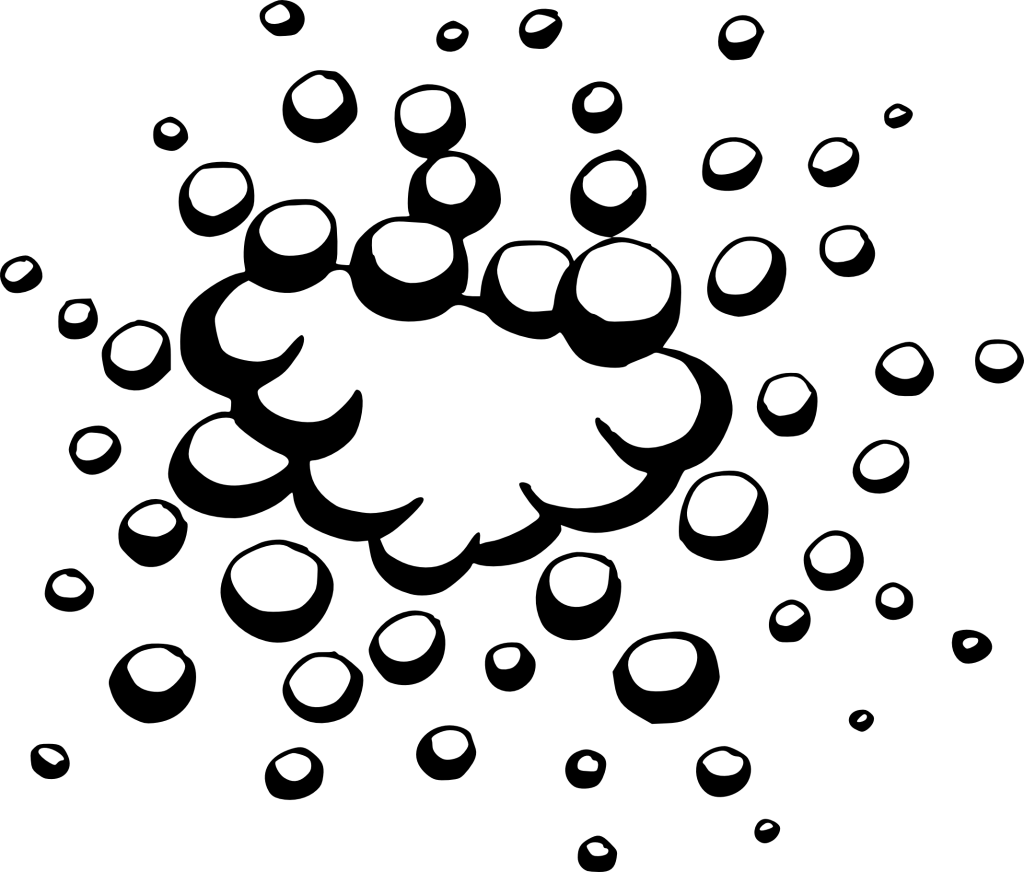 clipart vector bubble black and white #107496000