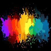 png free library rainbow colour splash drip transparent background