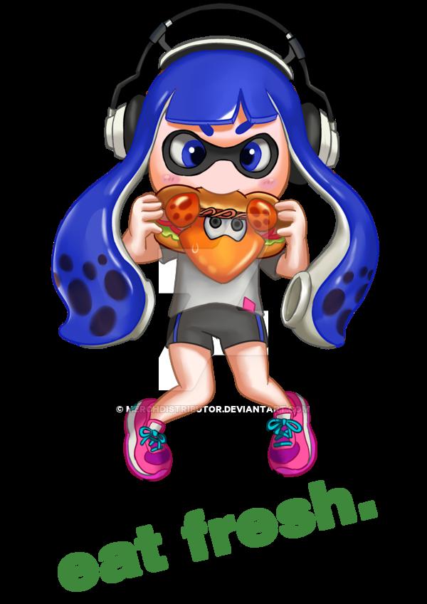png stock Eat Fresh Splatoon Blue Kid by Merchdistributor on DeviantArt