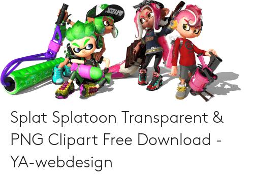 image royalty free library Splat Splatoon Transparent