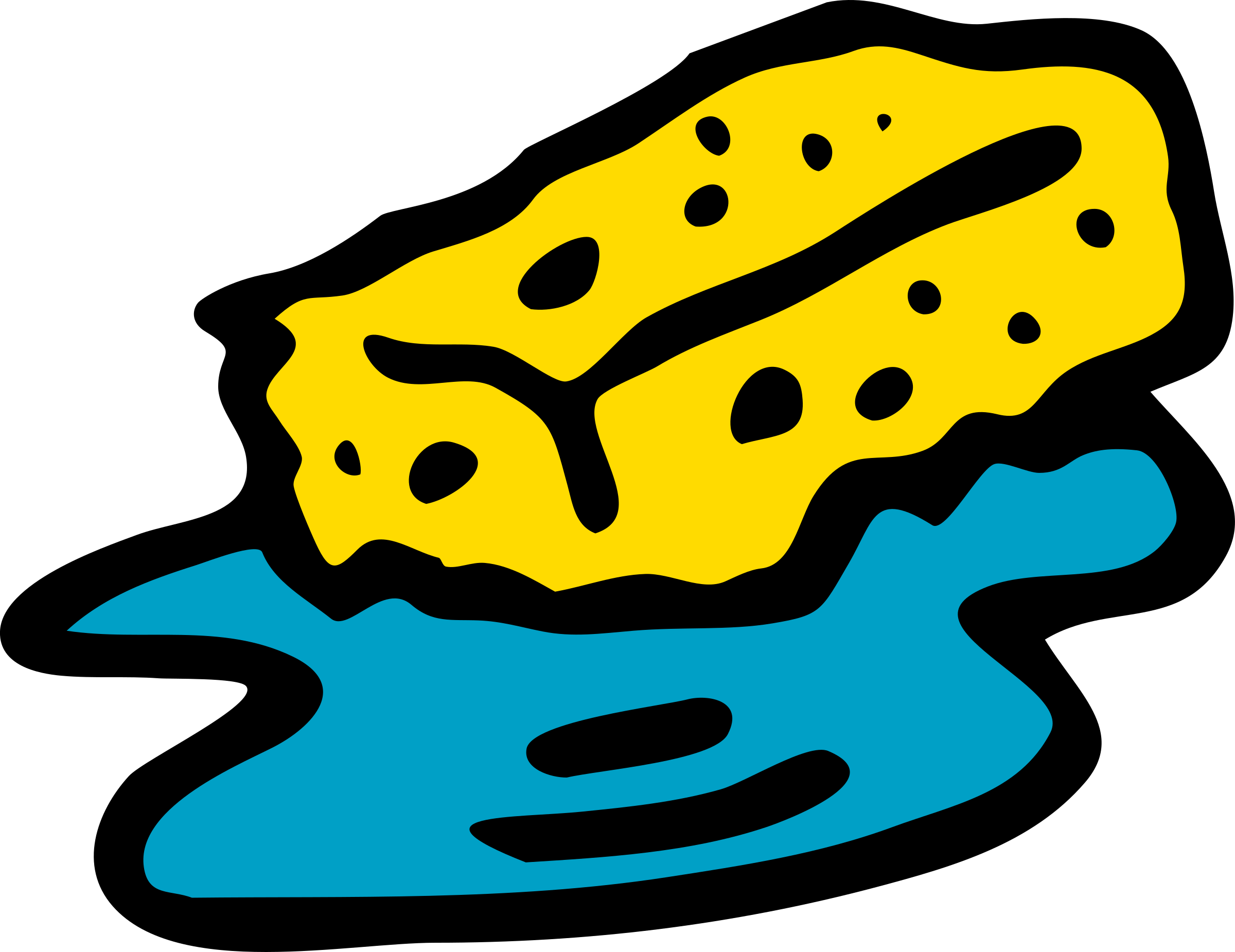 vector freeuse Sponge in water big. Wet clipart