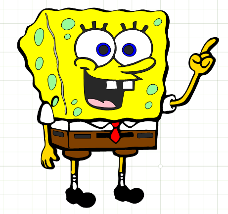 picture free library Free files cartoon silhouette. Spongebob svg.