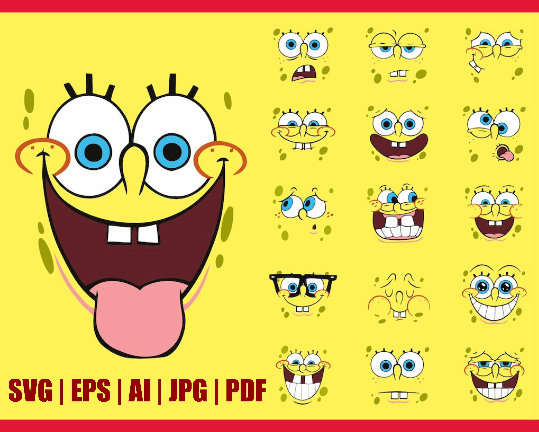 image black and white stock SpongeBob Clipart
