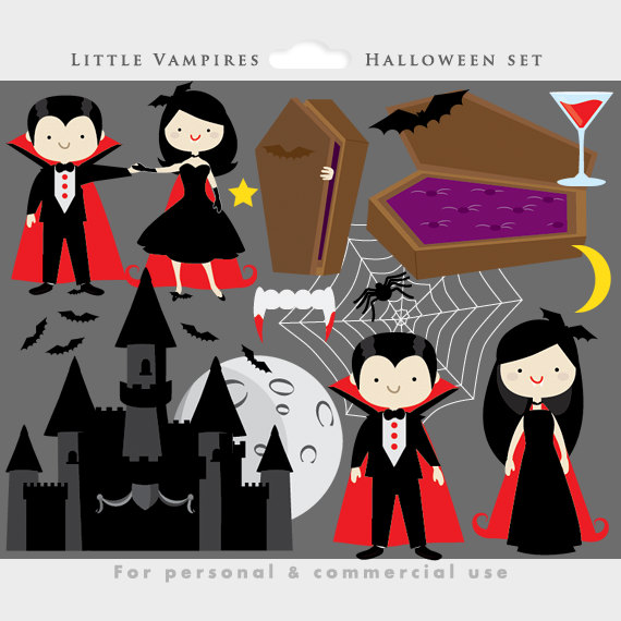vector black and white Vampire halloween clip art. Vampir clipart cute