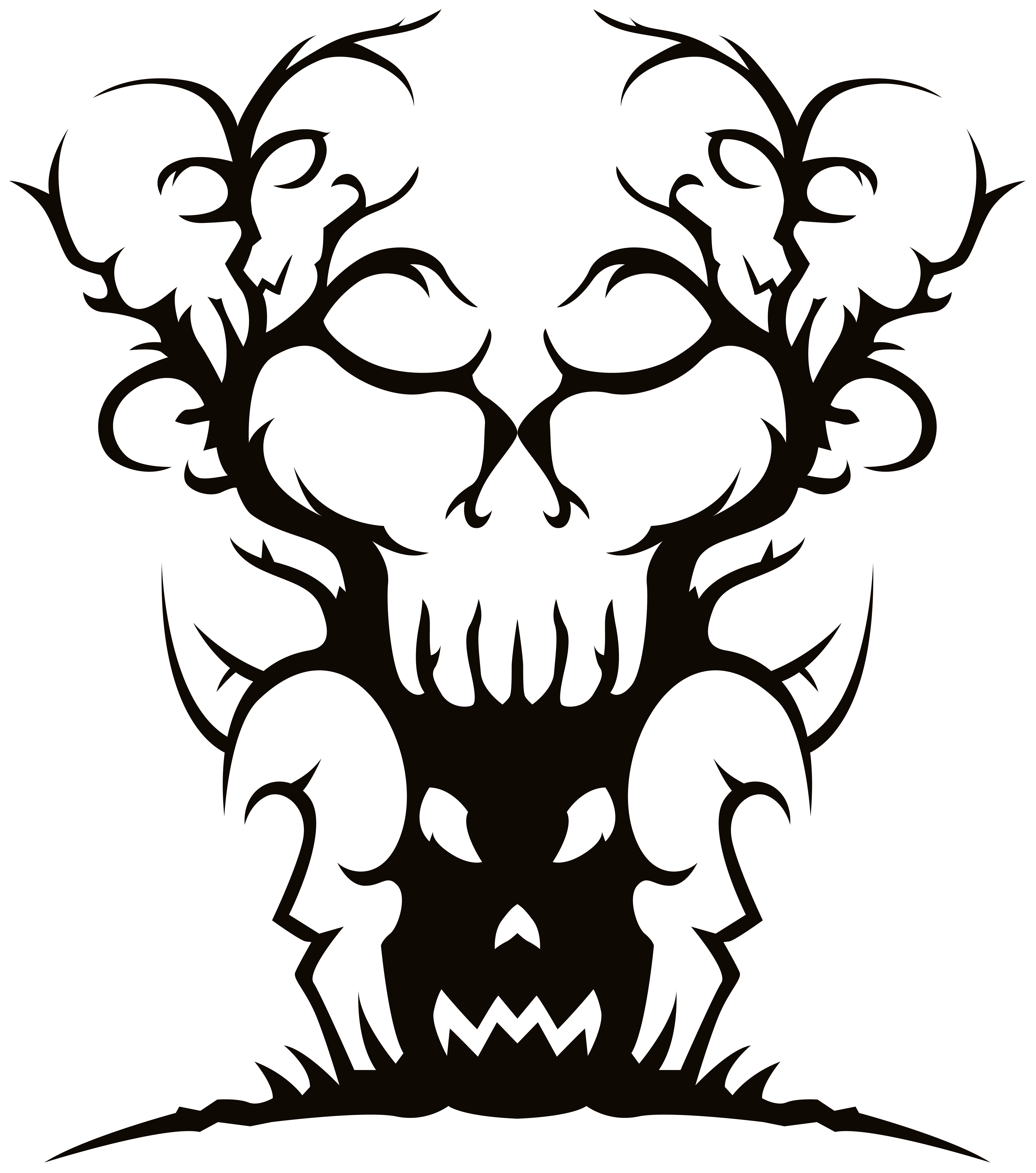 clipart transparent stock Scary Spooky Tree PNG Clipart Image